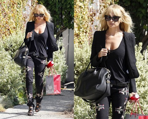 Nicole Richie in Isabel Marant Renell Skinny Jeans