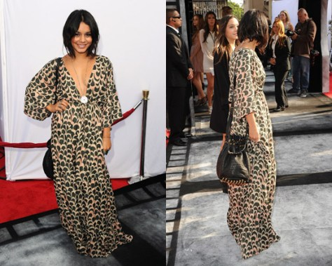 Vanessa Hudgens in T-Bags Deep Neck Butterfly Dress