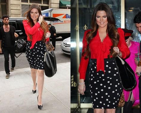 Khloe Kardashian in Christian Louboutin Maggie Platform Pumps