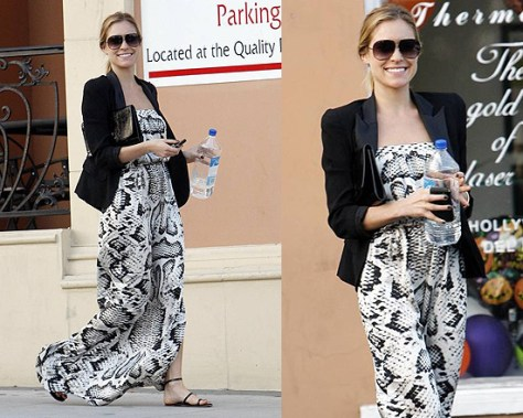 Kristin Cavallari in Twelfth St. by Cynthia Vincent Skeletal Strapless Dress