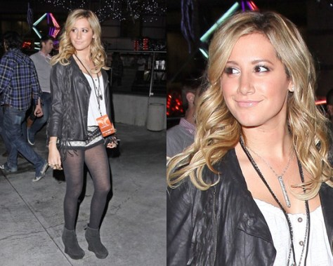 Ashley Tisdale in Spring & clifton Vermont Jacquard Knit Shorts