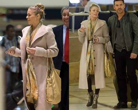 LeAnn Rimes in Viktor & Rolf Knit Sleeve Trench Coat