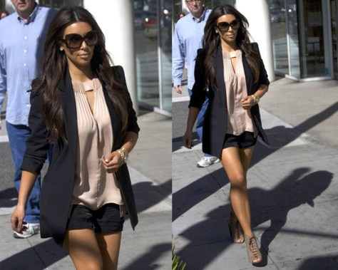 Kim Kardashian wears Diane von Furstenberg Isaye Top to lunch