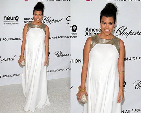 Kourtney Kardashian wears Raoul Penelope Gown to Oscar Party