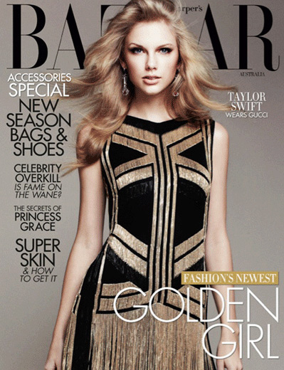 Taylor Swift in Gucci Silk Chain Dress