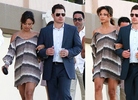 Vanessa Lachey wearing Parker Double Flared Sleeve Dress