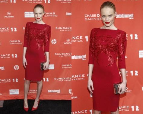 Kate Bosworth in  Antonio Berardi Embellished crepe dress