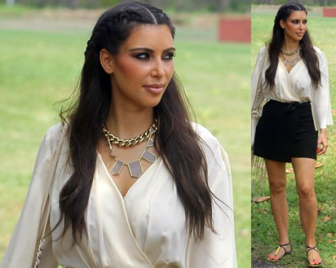 Kim Kardashian wearing Blaque Label Sophia Romper in the Dominican Republic