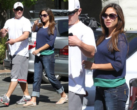 Vanessa Lachey in JET by John Eshaya Color Block Sweater