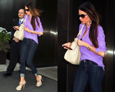 Sofia Vergara steps out in NYC with Prada Side-Pocket Hobo