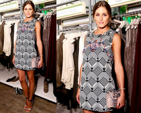 Olivia Palermo in Free People Mod Squad Ethnic Mini Dress