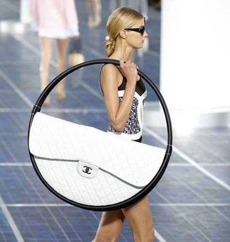 Karl Lagerfeld Unveils Giant Hula Hoop Beach Bag at Chanel Fashion Show
