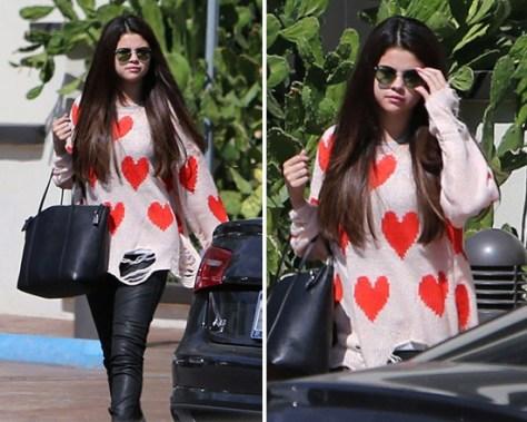 Selena Gomez in Wildfox All Over Love Lennon Sweater