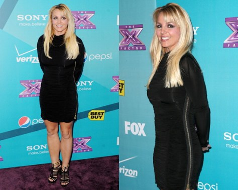 Britney Spears in AllSaints Barre Dress