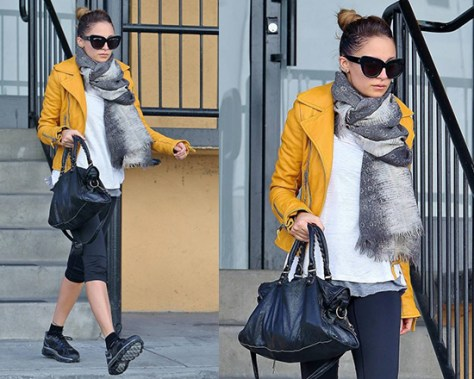 Nicole Richie wearing Balenciaga Biker Jacket
