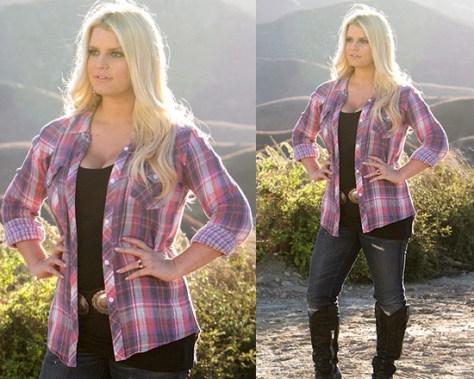 Jessica Simpson wears Rails Kendra Buttondown in WeightWatchers commercial