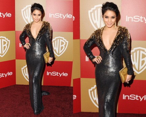 Vanessa Hudgens in Jenny Packham Sequined Silk Gown