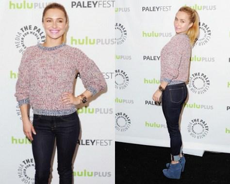 Hayden Panettiere wearing Etoile Isabel Marant Maverick Americana Knit Pullover