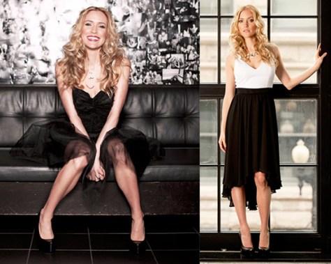 Kristin Cavallari in Paper Crown Jasper Dress and Black Halo Francis Dress