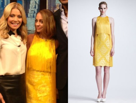 Nicole Richie in Stella McCartney Fringed lace and crepe dress