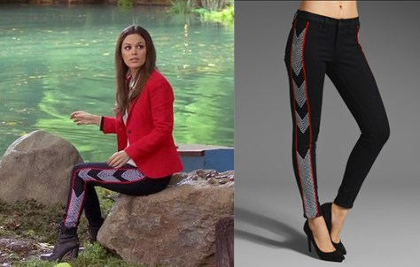 Rachel Bilson wearing Rag & Bone Legging in Raja Midnight on Hart of Dixie