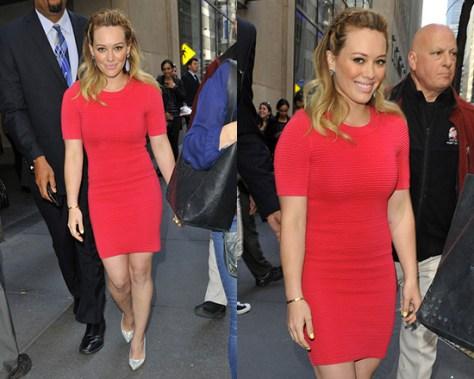 Hilary Duff wearing Torn by Ronny Kobo Candy Mini Dress