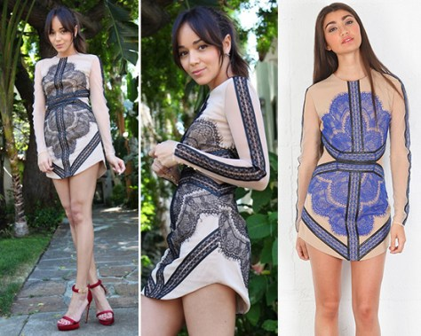 Ashley Madekwe in Three Floor Mademoiselle Dress