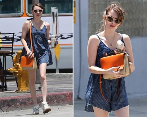 Emma Roberts wearing a One teaspoon Homesick Blues Loco Romper