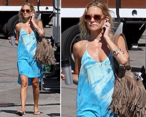 Kate Hudson in Gypsy 05 Hampton Silk Tuxedo High-Low Mini Dress