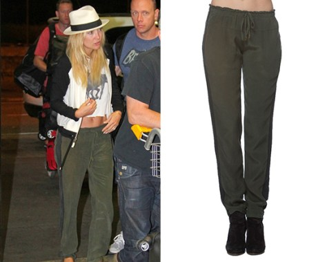 Kate Hudson in Gypsy05 Mondrian Silk Tuxedo Drawstring Pants