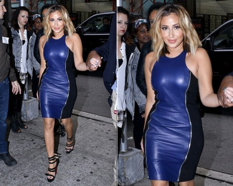 Adrienne Bailon in Rebecca Minkoff Lou Dress