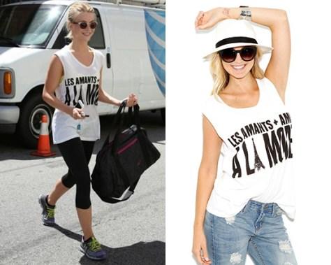 Julianne Hough in Lovers + Friends A La Mode Muscle Tee