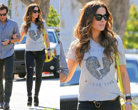 Kate Beckinsale in Zoe Karssen Not A Love Song Tee