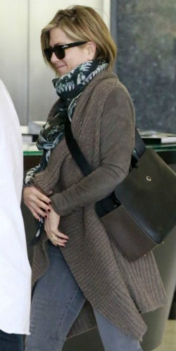 Jennifer Aniston wears AllSaints Force Cardigan