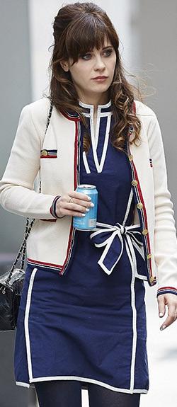 Zooey Deschanel for Tommy Hilfiger Sleeveless Contrast-Trim Belted Dress