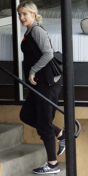 Ashlee Simpson Ross out and about in New Balance 811 Training Shoes