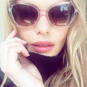 Coach Signature Spray Cat Eye Sunglasses as seen on Kate Bosworth Instagram