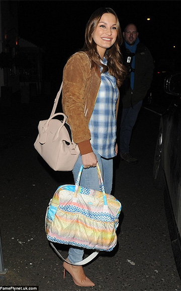 ASOS Suede Bomber Jacket as seen on Sam Faiers