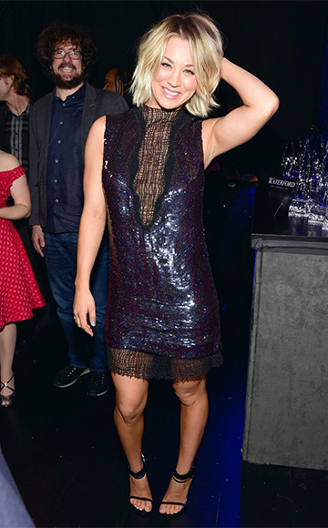 Manning Cartell sleeveless sequin dress as seen on Kaley Cuoco