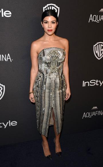 Julien Macdonald embellished dress as seen on Kourtney Kardashian