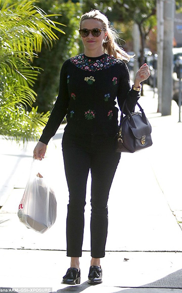 Valentino Floral Cableknit Pullover as seen on Reese Witherspoon