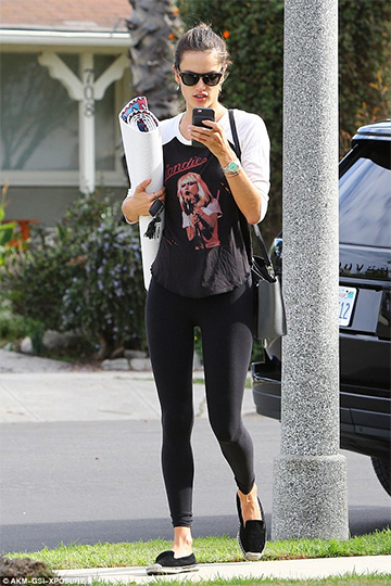 Lauren Moshi Blondie Boyfriend Raglan Tee as seen on Alessandra Ambrosio