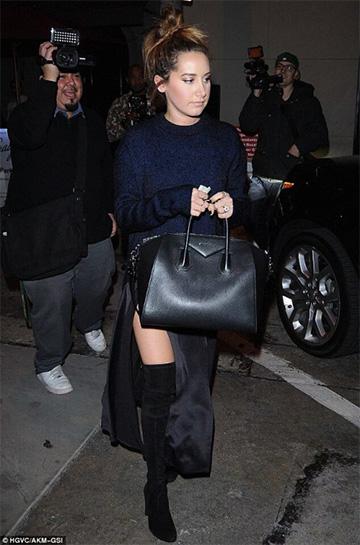 Nili Lotan Satin Evening Skirt as seen on Ashley Tisdale