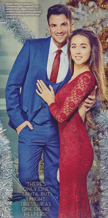 Amy Childs Sherry Fitted Lace Maxi Dress as seen on Emily MacDonagh alongside husband Peter Andre in OK magazine