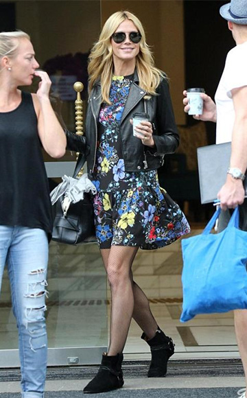 Erdem Emmie Shift Dress as seen on Heidi Klum