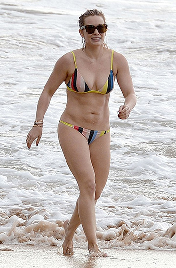 Solid & Striped The Morgan Bikini as seen on Hilary Duff