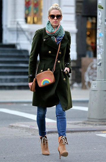 Anya Hindmarch Rainbow Crossbody Bag as seen on Nicky Hilton