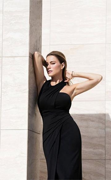 Alexander Wang Asymmetrical One-Shoulder Gown as seen on Sofia Vergara