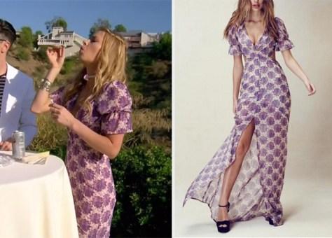 Seen on Vanderpump Rules: Ariana Madix in For Love & Lemons Clover Dress
