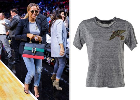 Gucci Bird Embellished T-Shirt as seen on Beyonce